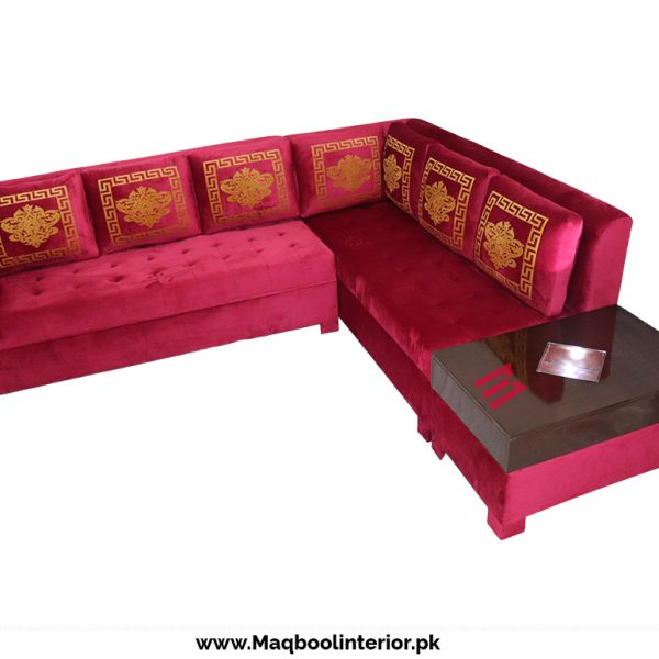 L-Shape Corner Sofa With Lighting Table