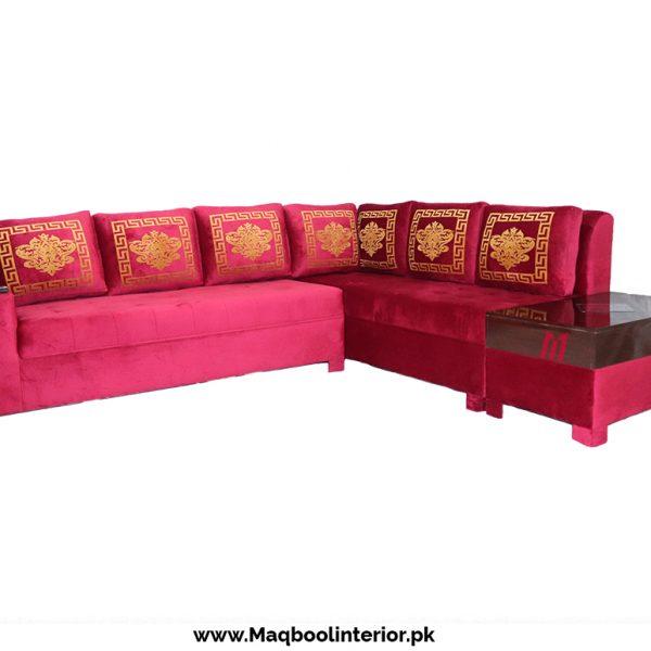 Maqbool Corner With Lighting Table