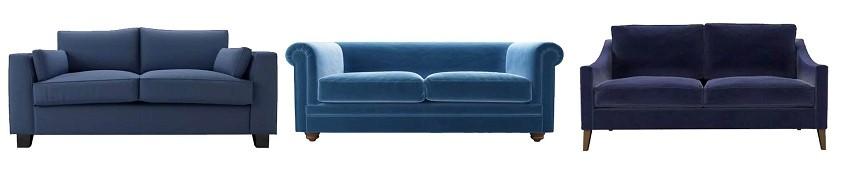 Nautical tones - blue sofas