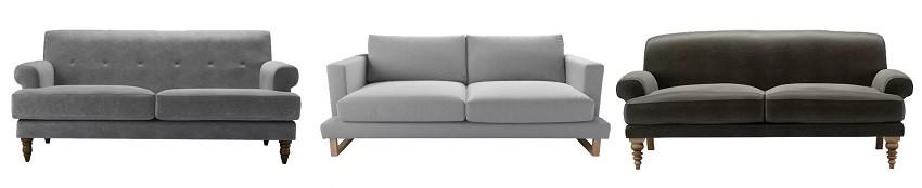 Sophisticated Monochrome - gray sofas